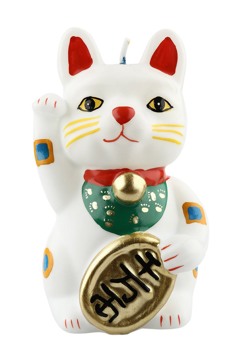 Multicolour Lucky Cat Candle