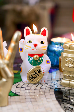 Maneki-Neko Lucky Cat Candle