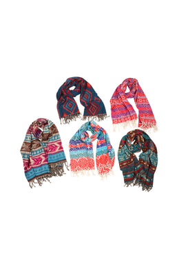 Assorted Prints & Colours Shawl