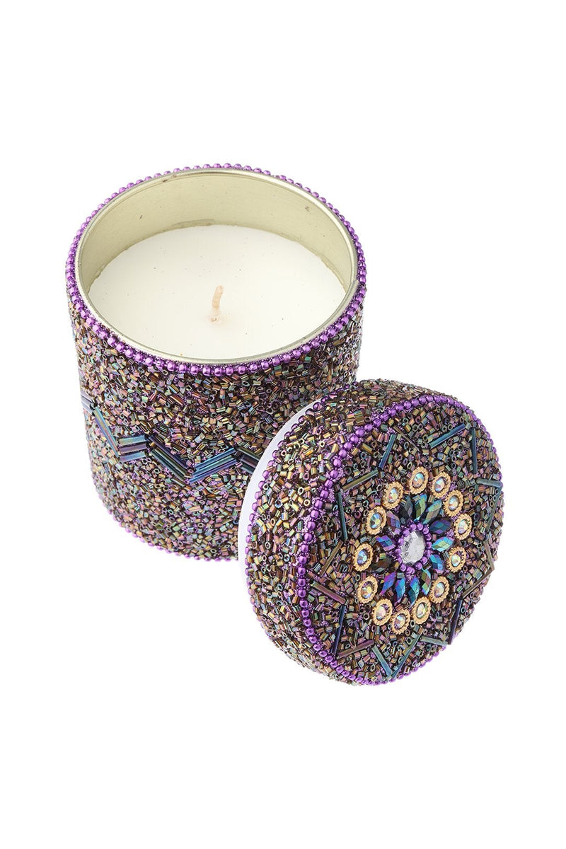 Beaded Candle Jar