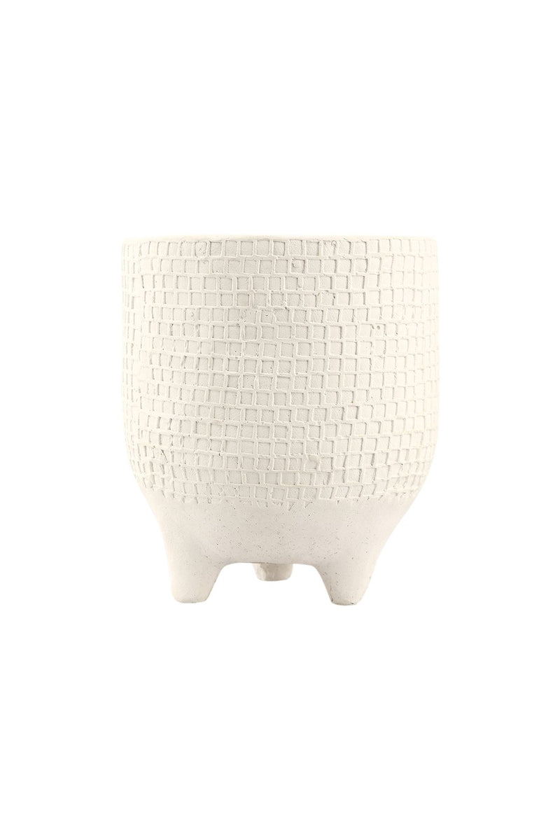 Outdoor Citronella Candle Crosshatch Pot