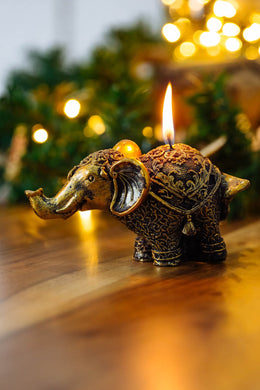 Golden Elephant Candle