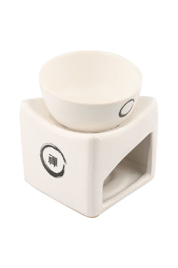 Temple White Ceramic Bowl Oil Burner