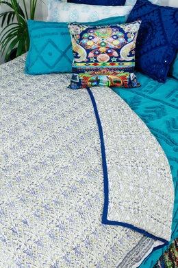 Indian Block Print Quilt - Medium