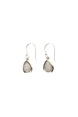 Assorted Gemstone Fine Droplet Silver Earrings