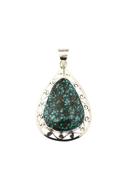 Assorted Gemstone Jali Silver Pendant
