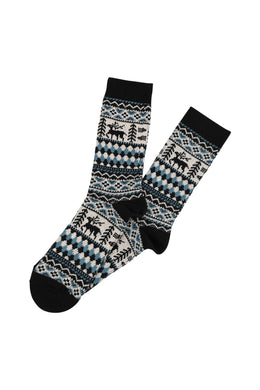 Reindeer Border Mens Socks