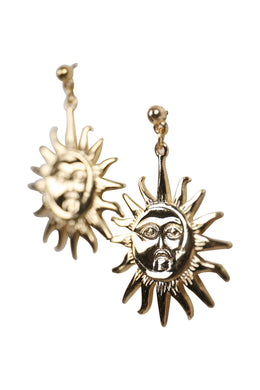 Sun & Moon Rays Earrings