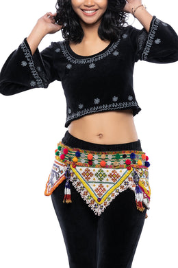 Assorted Kutchi Mirror Beaded Patch Belt