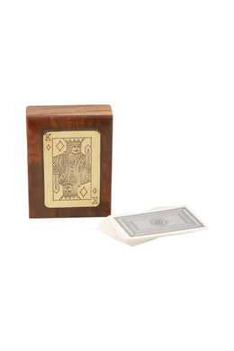 King Card Sheesham Wood Game Box Set