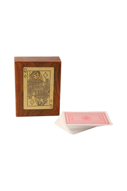 Queen Card Sheesham Wood Game Box Set