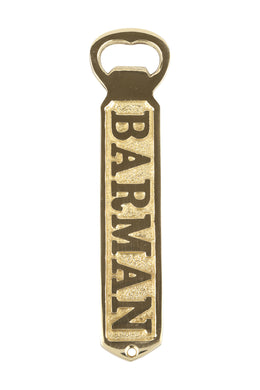 Brass Barman Bottle Opener
