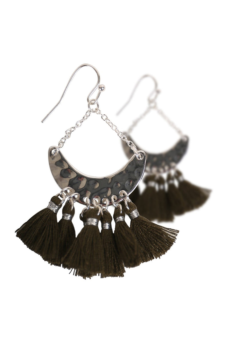 Crescent Tassels Earrings