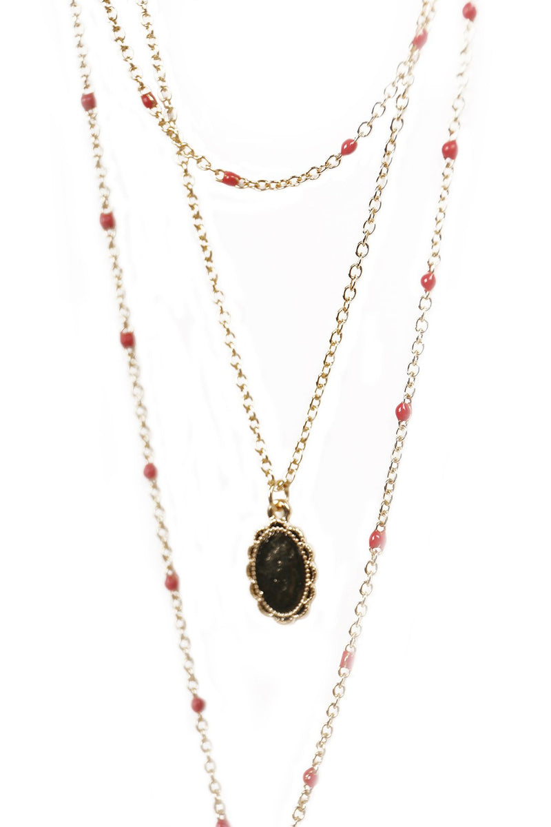 Layered Lariat Cross Necklace