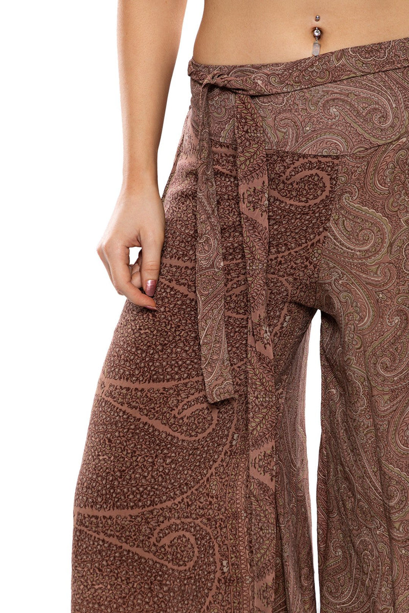 Assorted Silk Wide Leg Pants