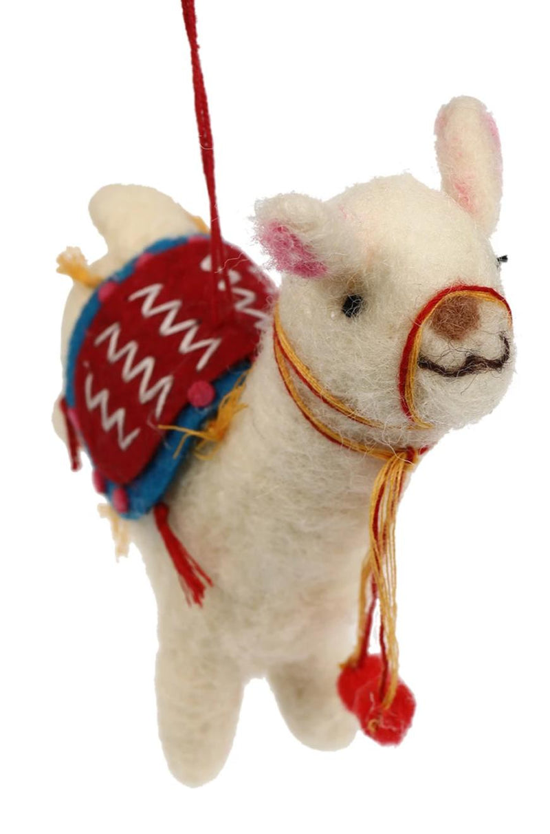 Llama Wool Hanging Decoration