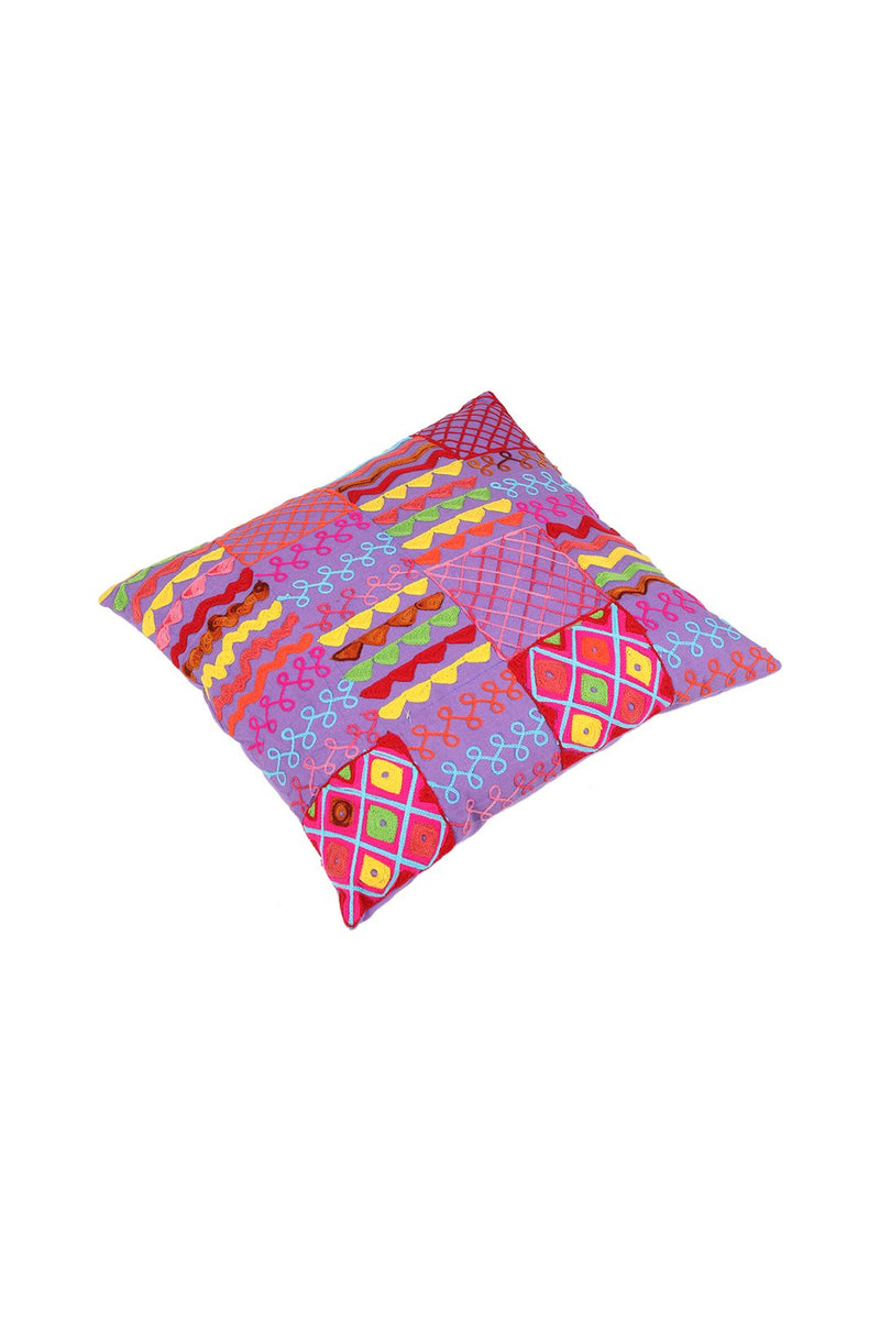 Assorted Embroidered Multicolour Cushion