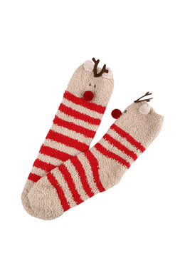 Reindeer Triangle Box Womens Socks