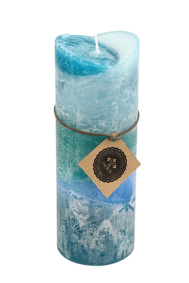 Tall V-Shape Scented Pillar Candle