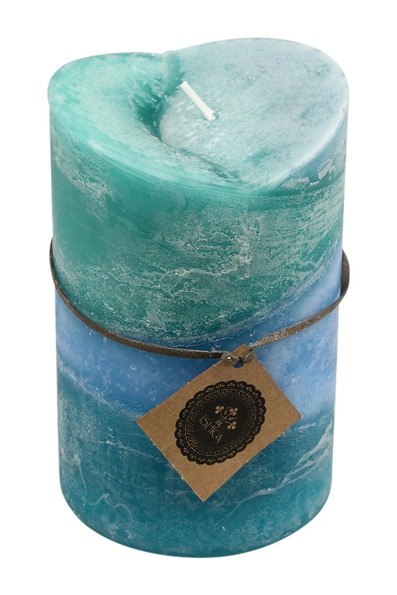 Large V-Shape Scented Pillar Candle