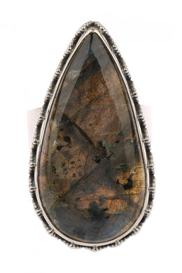 Tribal Case Labradorite Statement Ring