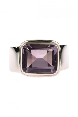 Raised Setting Amethyst Ring