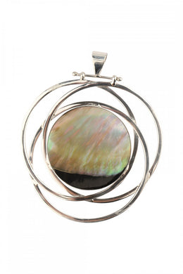 Wrapped Disc Shell Pendant