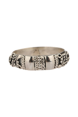 Balinese Ornate Band Silver Ring