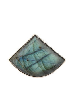 Statement Labradorite Silver Ring