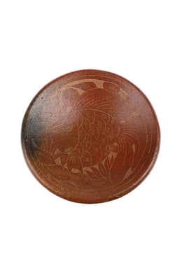 Small Lombok Terracotta & Rattan Bowl