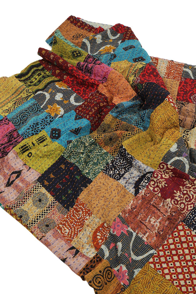 Assorted Kantha Patchwork Throw