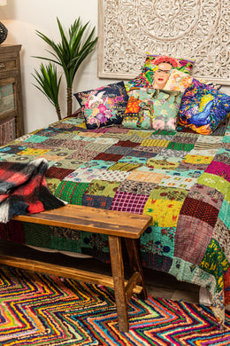 Assorted Kantha Patchwork Bedcover
