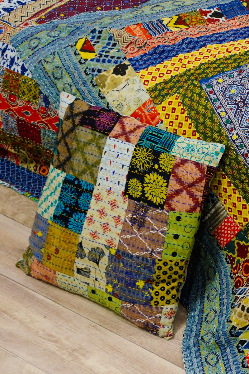 Assorted Kantha Patchwork Cushion