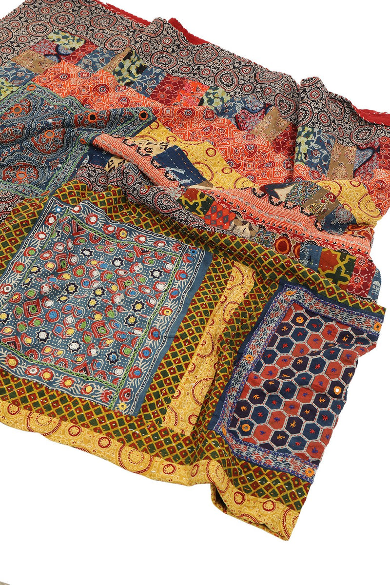 Assorted Embellished Patchwork Throw