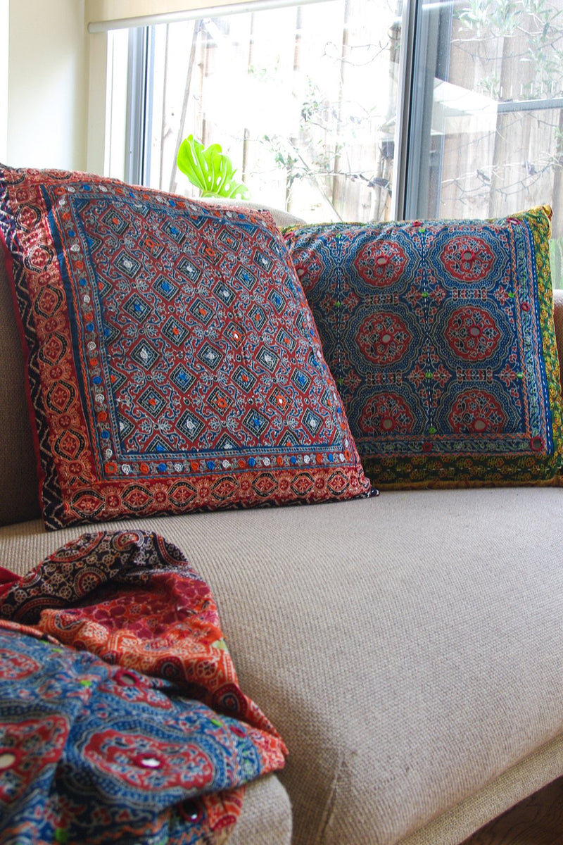 Assorted Embellished Patchwork Cushion