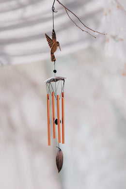 Iron Hummingbird Wind Chime