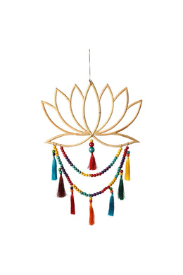 Lotus Rainbow Dream Catcher Wall Art