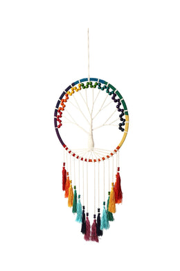 Tree of Life Rainbow Dream Catcher Wall Art