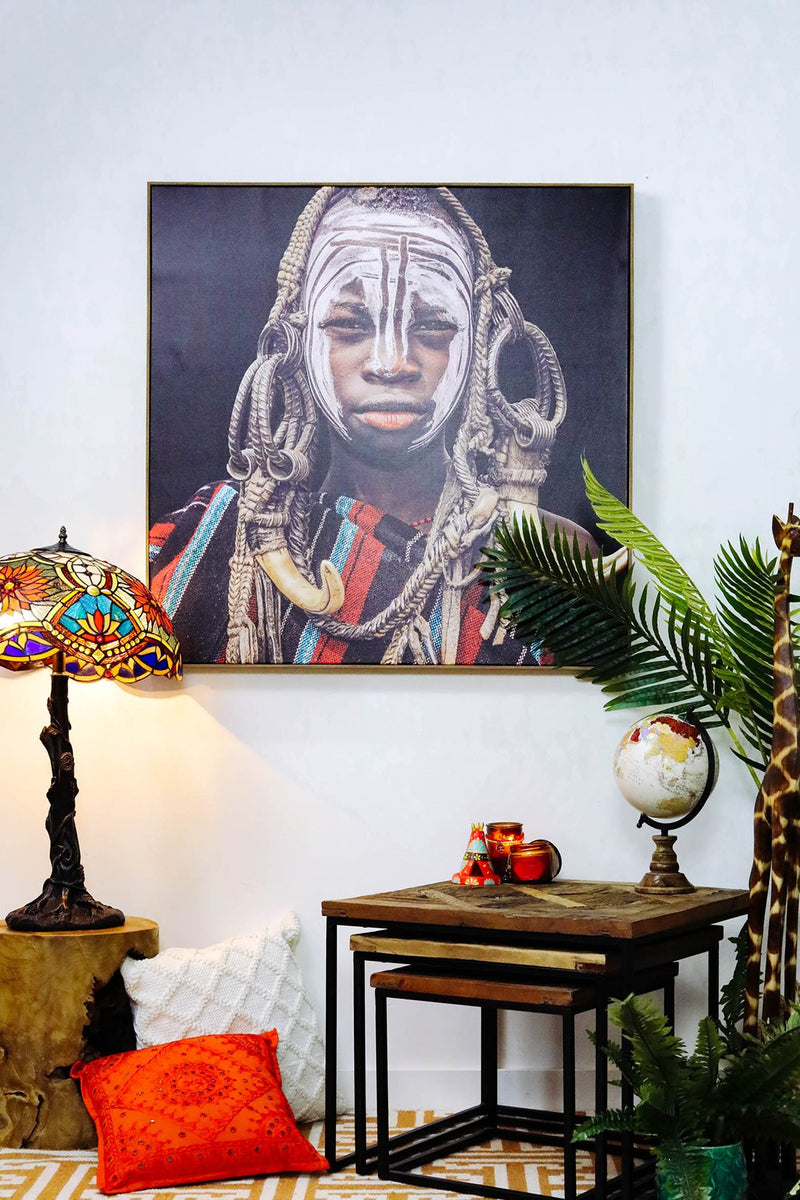African Boy Framed Canvas Print