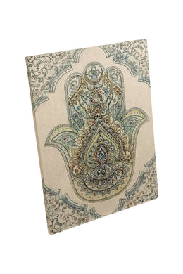 Frameless Hamsa Jewels Canvas Print
