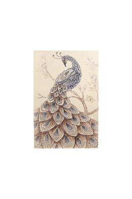 Frameless Peacock Jewels Canvas Print