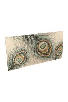 Green Peacock Jewels Canvas Print