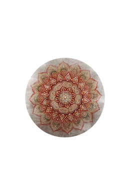 Round Mandala with Jewels Print Canvas