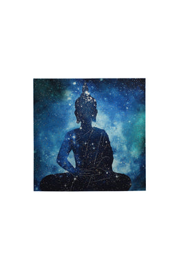 Constellation Buddha with Studs Canvas Print