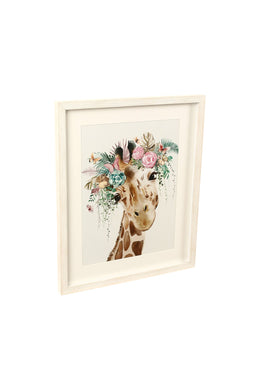 Crown Giraffe Art Framed Print