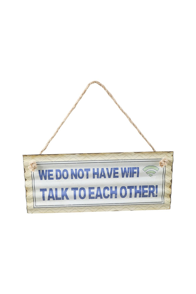 No Wifi Iron Wall Hanging