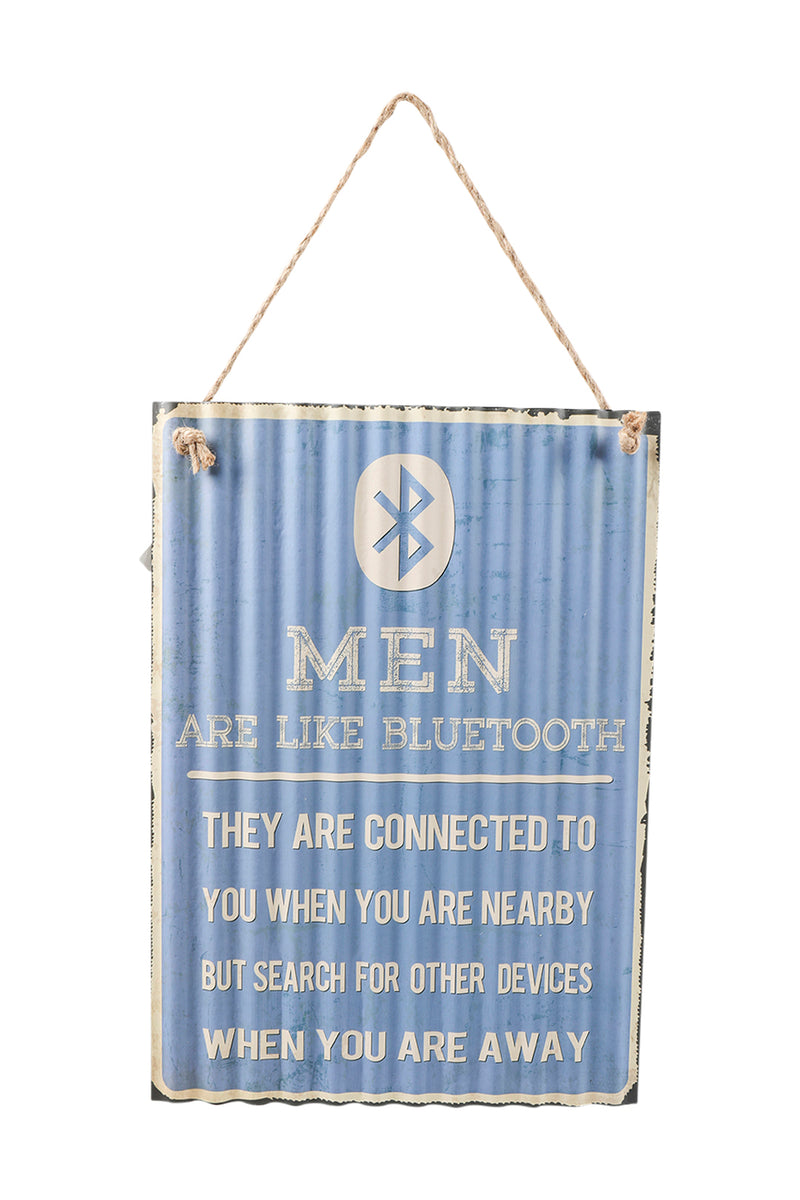 Bluetooth Men Iron Wall Hanging