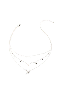 Fine Layered All the Stars Necklace