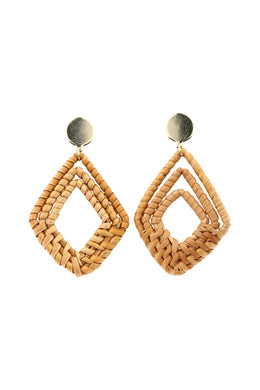 Raffia Weave Earrings