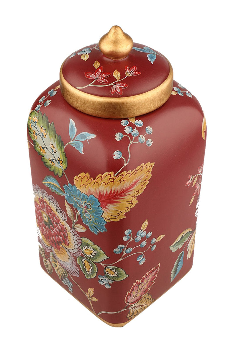 Tropical Red Cookie Jar